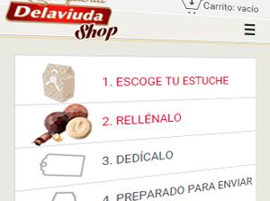 Delaviuda-shop diseño y maquetación